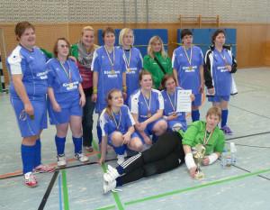 NRW- Auswahl mit Damen des BS SV Rees bei einem Turnier in Berlin bei dem sie den 1. Platz belegten.